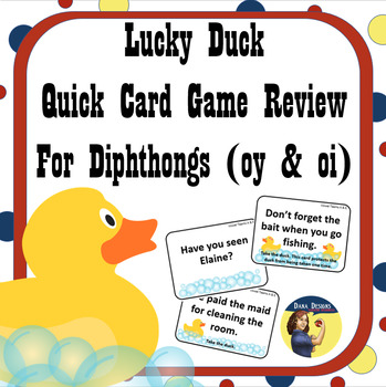 Lucky Ducks Diphthongs in Context Card Game