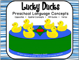Lucky Ducks:  Preschool Language Concepts Game