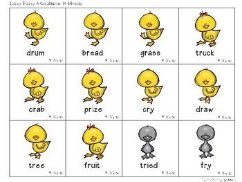 Lucky Ducky Articulation - Target Word Cards & Games