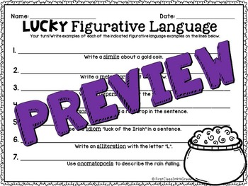 Lucky Figurative Language (St. Patrick's Day Literary Device Unit)
