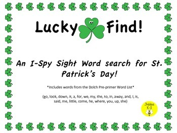 Lucky Find! An I-spy sight word search