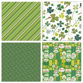 Lucky Green Digital Background Papers, Patterned, St Patrick's Day