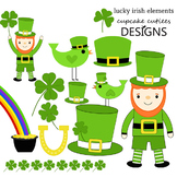Lucky Irish Clip Art St. Patrick's Day Digital Graphics CU