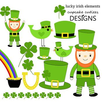 Lucky Irish Clip Art St. Patrick's Day Digital Graphics CU