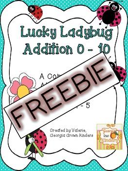 Lucky Ladybug Differentiated Addition FREEBIE!!