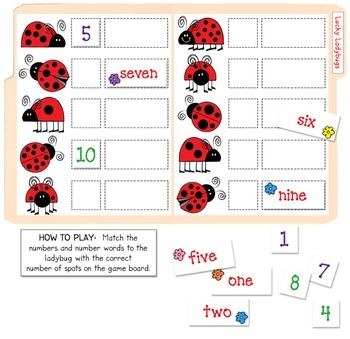 Lucky Ladybugs File Folder Game Download