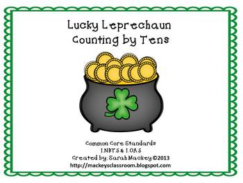 Lucky Leprchaun: Counting by Tens {CC 1.NBT.5 & 1.OA.5