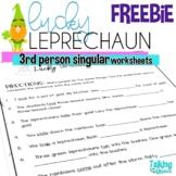 Saint Patrick's Day Third Person Singular S Worksheets FREEBIE