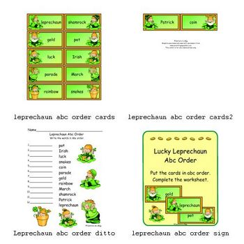 Lucky Leprechaun Abc Order