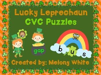 Lucky Leprechaun CVC Puzzles