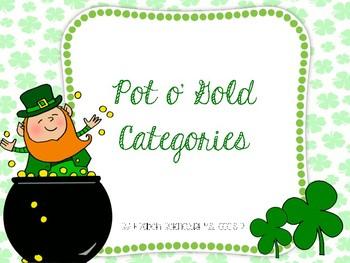Pot o' Gold Categories