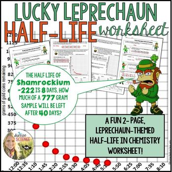 Worksheets Half Life Calculations Worksheet lucky leprechaun half life problems worksheet by sunrise science worksheet
