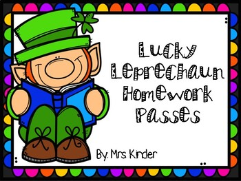 Lucky Leprechaun Homework Passes