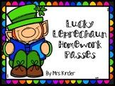 Lucky Leprechaun Homework Passes