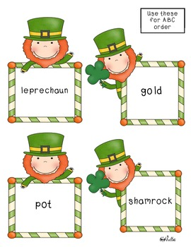 Lucky Leprechaun Literacy Centers-Sample Version