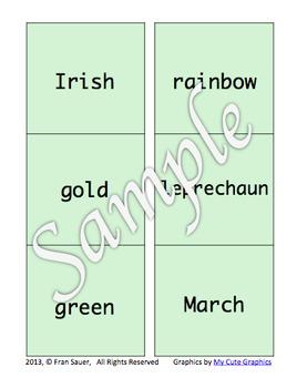 Matching Word Games ~ Lucky Leprechaun