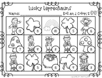 Lucky Leprechaun Math Station Tubs