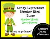 Lucky Leprechaun Number Word Bingo