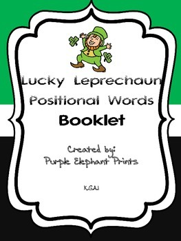 Lucky Leprechaun Positional Words Booklet