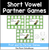 Lucky Leprechaun Short Vowel Partner Game