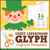 Leprechaun St Patrick's Day Glyph Craft and Worksheets