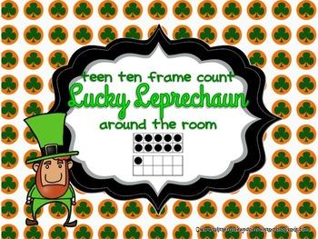 Lucky Leprechaun Teen Ten Frame Count
