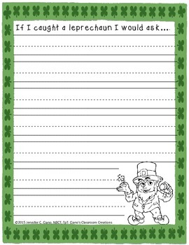 Lucky Leprechaun Writing Prompts