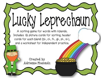 Lucky Leprechaun {a sorting game for words with l-blends}