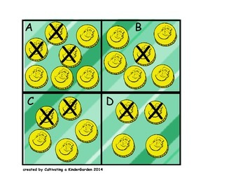 Lucky Leprechaun subtraction fluency math center