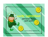 Lucky Leprechaun subtraction fluency math center