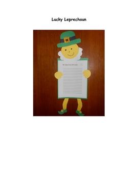 Lucky Leprechaun writing activity