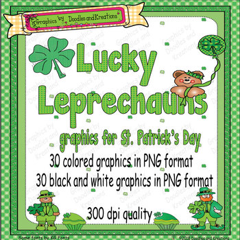 St. Patrick's Day Clip Art Lucky Leprechauns