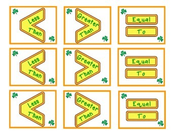 Lucky Leprechauns   A Number Comparison Activity