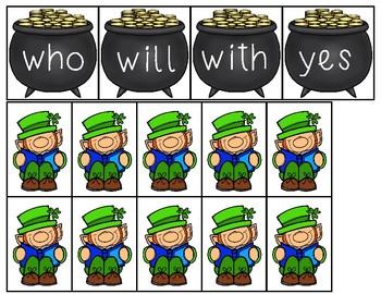 Lucky Leprechauns - A pocket chart center
