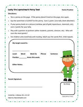 Lucky Leprechaun's Articulation Penny Toss! St. Patrick's Day!