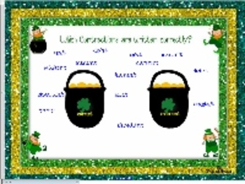 Lucky Leprechaun's Contractions Smartboard
