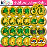 Leprechaun Coins Clip Art: Saint Patricks Day Graphics {Glitter Meets Glue}