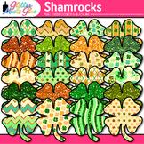 Shamrock Clip Art {Saint Patrick's Day 4-Leaf Clovers for Brag Tags & Task Card}
