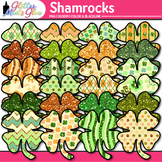 Shamrock Clip Art {Saint Patrick's Day 4-Leaf Clovers for