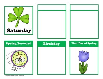 Lucky  Leprechauns March Calendar Card Collection for Pocket Charts
