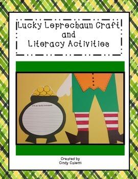 Lucky Lerprechaun Craft and Literacy Activities