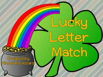 Alphabet Match Center St. Patrick's Day