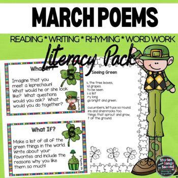 Lucky Literacy Pack-March Reading, Rhyming & Writing Activities