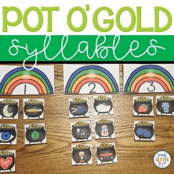 Lucky Literacy - Pot o' Gold Syllables March Center