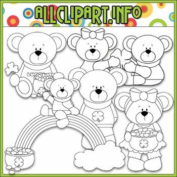 BUNDLED SET - Lucky Little Bears Clip Art & Digital Stamp Bundle