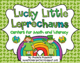 Lucky Little Leprechauns! St. Patrick's Day Centers for Math and Literacy