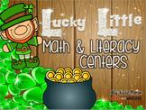 Lucky Little Math and Literacy Centers St. Patrick's Day themed for Kindergarten