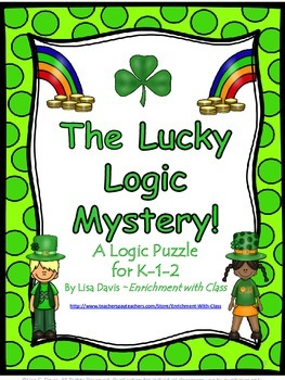 Lucky Logic Mystery Puzzle for Pre K-2!