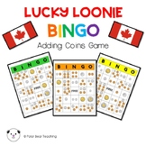 Lucky Loonie BINGO- Canadian Coin Game: Grade 1 (5x5 Cards)