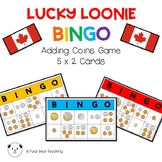 Lucky Loonie BINGO- Canadian Coin Game: Grade 1 (5x2 Cards)